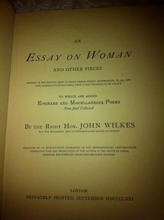 Essay on women wilkes