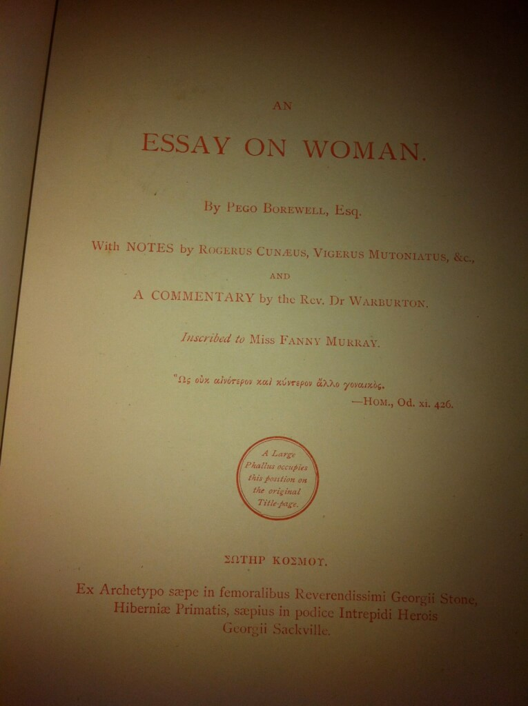 an essay on woman john wilkes An essay on woman by john wilkes and thomas potter by arthur h cash, 9780404635367, available at book depository with free delivery worldwide.